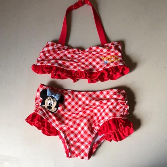 6cc5b4d2cd Disney Swim | Red And White Plaid Minnie Mouse Bikini Suit | Poshmark